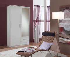 ORCHID 2 Door 2 Drawer Wardrobe Alpine White or Oak Effect
