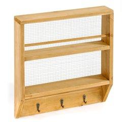 Wall Shelf with Hooks
