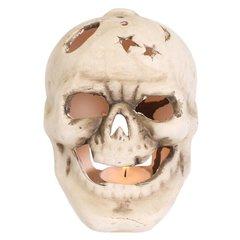 Skull Garden Candle Holder