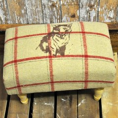 Beige Fox Footstool