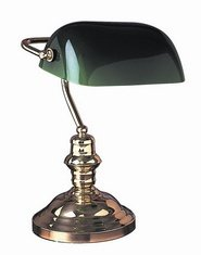Green Lloytron Banker's Lamp