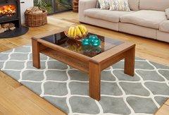 Baumhaus OLTEN Glazed Coffee Table with Shelf
