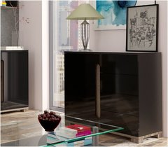 BLOSSOM Black Gloss Compact Sideboard