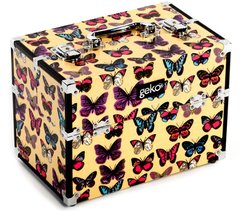 Vanity Case Makeup Box Butterfly Print