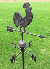 Rusty Iron Rooster Weather Vane