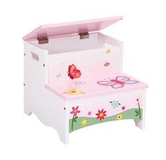 Pink Butterfly Buddies Storage Toy Box Step-Up
