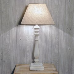 Shabby Chic White Table Lamp with Shade 64cm