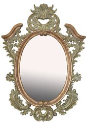 Carved Painted Florentine Mirror