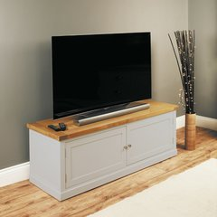 Baumhaus CHADWICK Widescreen TV Cabinet With Cupboard
