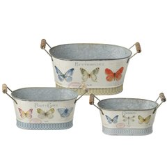 Set of 3 Butterfly Planters