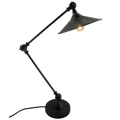 Antique Style Silver Table Lamp 53cm