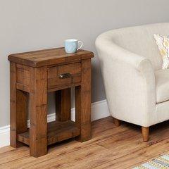 Baumhaus HEYFORD Rough Sawn Oak Lamp Table