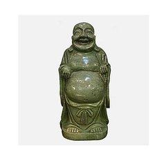 Large Chinese Jade Lushan Standing Laughing Buddha