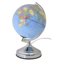 Illuminated World Globe Touch Lamp