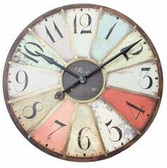 Wooden Multicoloured Clock 75cm