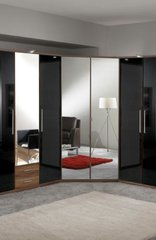 MULBERRY Mirror and Walnut 2 Door Corner Wardrobe