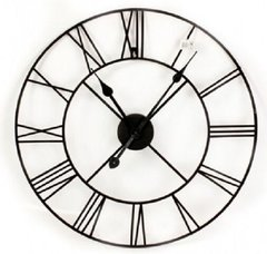 Metal Clock, Roman Numeral 60cm
