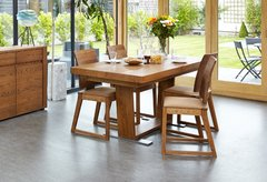 Baumhaus OLTEN Extending Dining Table in Oak Finish