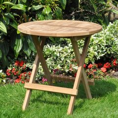 Round Teak Picnic Table