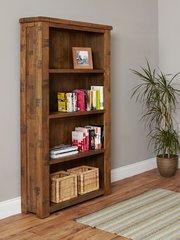 Baumhaus HEYFORD Rough Sawn Oak Large Open Bookcase