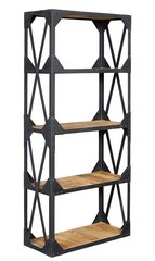 Indian Hub ASCOT Industrial Style Large Bookcase / Shelves