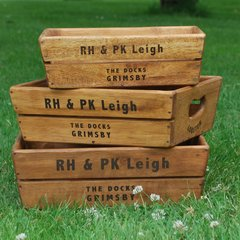 Waxed Wooden Trays Pack of 3