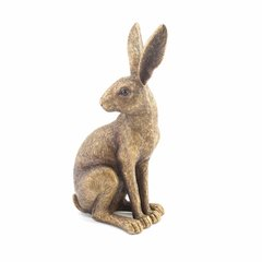 Bronzed Sitting Hare Ornament