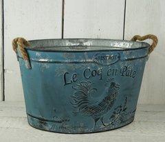 Blue Tin Planter