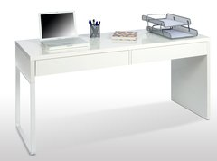 IVY White Gloss Desk With Drawers