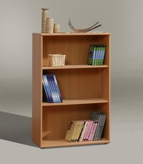 FUSIA Short Wide Bookcase Beech / White