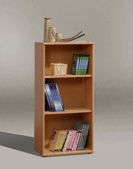 FUSIA Short Narrow Bookcase Beech / White