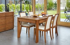 Baumhaus OLTEN Extending Dining Table with drawer in Oak Finish
