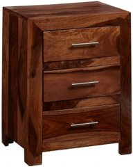 CUBE 3 Drawer Lamp Table / Bedside Table