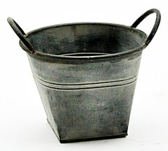Galvanised Metal Planter 19cm