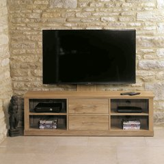 Baumhaus MOBEL Oak Mounted Widescreen Television Cabinet