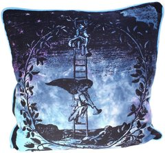 Angel on Ladder Cotton Print Cushion