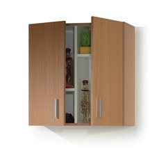BREEZE Multi Purpose Beech Storage Wall Cupboard