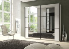 Maple Large Sliding Mirrored Wardrobe White