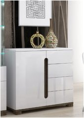 BLOSSOM Compact Narrow Sideboard White Gloss