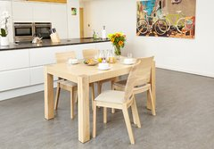 Baumhaus OLTEN UNO Extending Dining Table in Light Oak Finish
