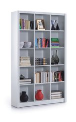 BREEZE White Gloss Triple Bookcase Squares