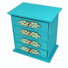 Aqua Jewel Storage Trinket Jewellery Drawers