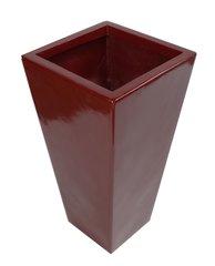 70cm Tall Fibreglass Tapered Planter Red Gloss