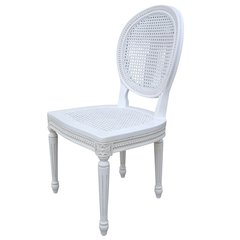 CHATEAU White Rattan Dining Chair / Bedroom Chair