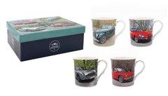 Set of 4 Car Mugs