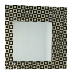Black & Gold Asymmetrical Shell Mirror