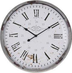Metal Rustic Silver Clock 52cm