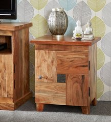 INDIAN HUB SLATE 1 Door Side / Bedside Table