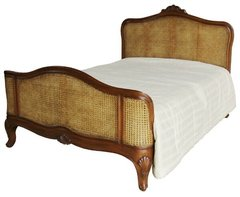 ADELE Antique Wax French Rattan Bed