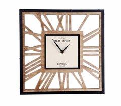 Wooden Cut Out Clock 30cm